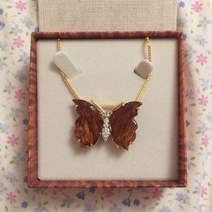Hawaiian butterfly necklace/brooch